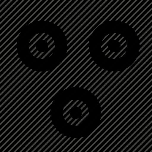 circles, minimal, nation, points, primitive, trinity, world icon