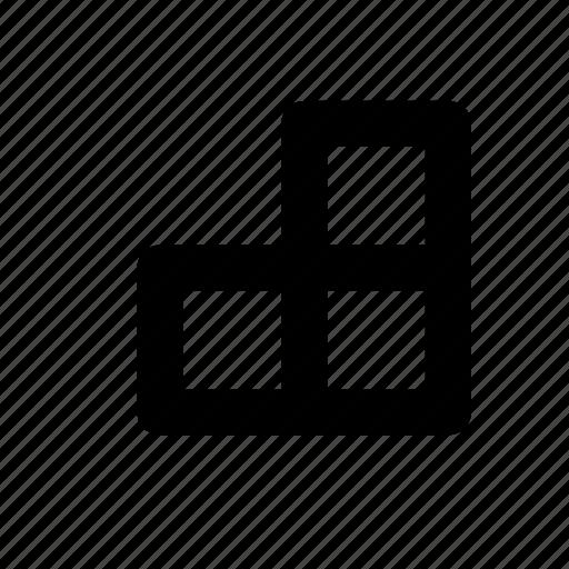 boxes, fingers, hand, logo, minimal, primitive, squares icon