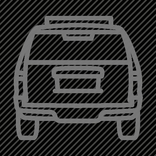 automobile, car, rear, road, roadtrip, suv, tires icon