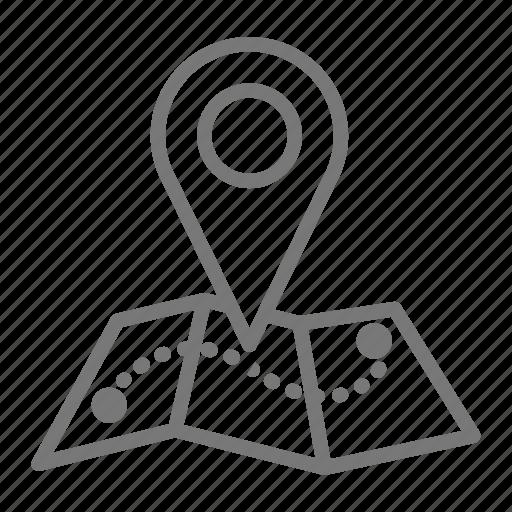 destination, location, map, plan, road trip, roadtrip, route icon