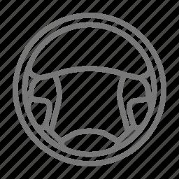 auto, car, drive, horn, roadtrip, steering wheel, wheel icon