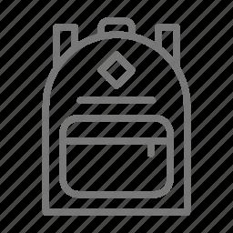 backpack, bag, luggage, pack, pocket, roadtrip, school icon