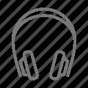 ears, headphones, listen, music, noiseless, wireless icon