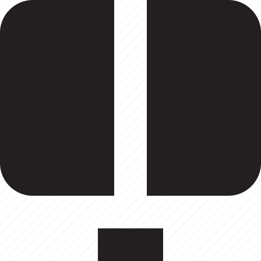 divide, screen, split icon
