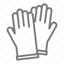 gloves, hands, lab, laboratory, protect, rubber, science icon