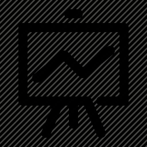 analytics, board, chart, flip, graph, growth, presentation icon