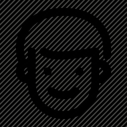 boy, face, happy, man, person, smiling icon