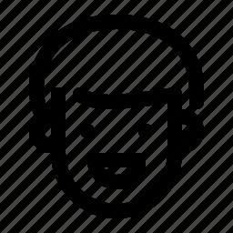 boy, face, happy, man, person, talking icon