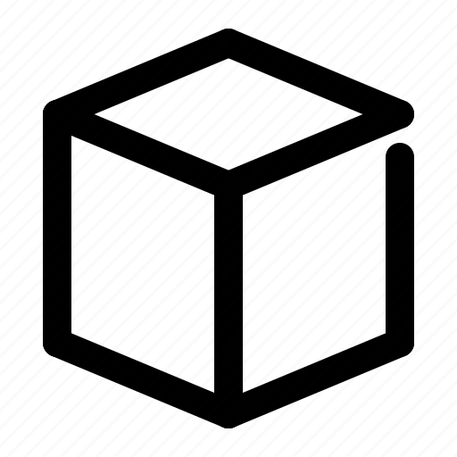 cube, perspective, shape icon