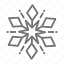 flake, ice, precipitation, snow, winter icon