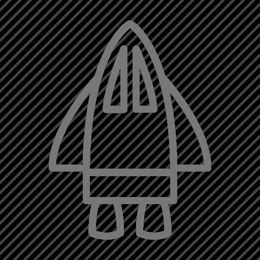 flight, plane, rocket, shuttle, space, spaceship, wings icon