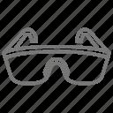 glasses, safety, tool, woodshop icon