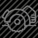 circular, saw, table, tool icon