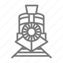 coal, engine, old fashioned, railroad, tracks, train icon