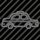 automobile, cab, drive, fare, hail, taxi, vehicle icon
