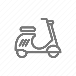 drive, moped, motorcycle, scooter, transportation, vehicle, vespa icon