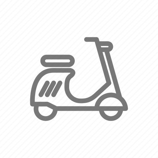 drive, moped, motorcycle, scooter, vespa icon
