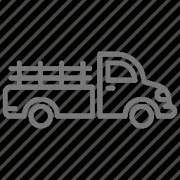 drive, engine, farm, haul, pick up, truck, vehicle icon