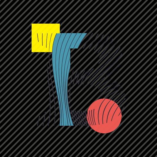 alphabet, b, font, geometry, line, text, typography icon