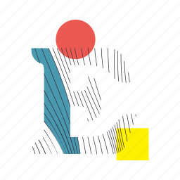 alphabet, e, font, geometry, line, text, typography icon