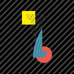 alphabet, font, geometry, i, line, text, typography icon