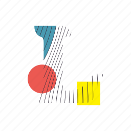 alphabet, font, geometry, l, line, text, typography icon