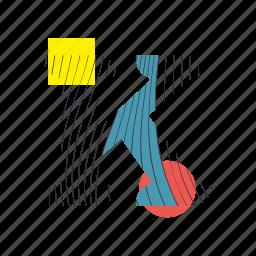 alphabet, font, geometry, k, line, text, typography icon