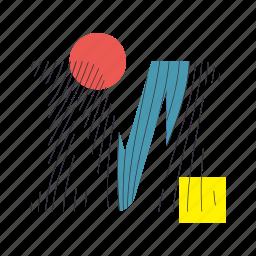 alphabet, font, geometry, line, m, text, typography icon