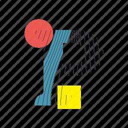 alphabet, font, geometry, line, p, text, typography icon