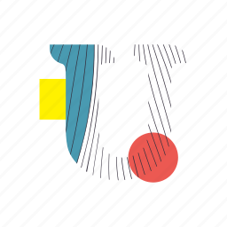 alphabet, font, geometry, line, text, typography, u icon