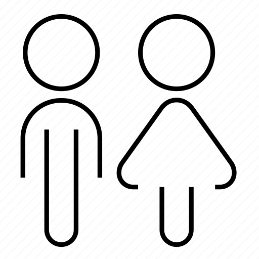 person, sign, unisex, unissex, wc icon