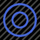 checked, circle, interface, on, radio, radio button, round icon