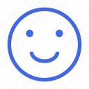 emoticon, feedback, happy face, mood, positive, rating, social icon