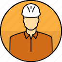 avatar, construction, hard hat, man, mining icon