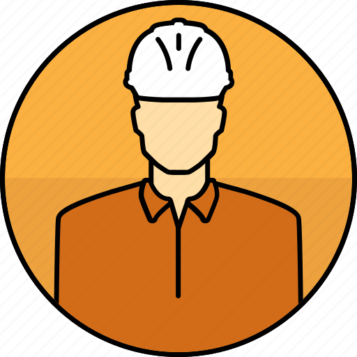 avatar, construction, hard hat, man, mining icon