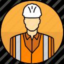 mining, high visibility vest, construction, avatar, hard hat, man