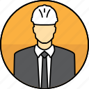 avatar, construction, hard hat, man, manager, mining icon