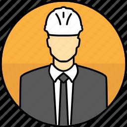 avatar, construction, hard hat, man, manager, mining icon