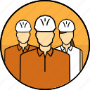 avatar, construction, group, hard hat, mining, people icon