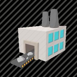 cartoon, generator, iron, line, power, sign, station icon