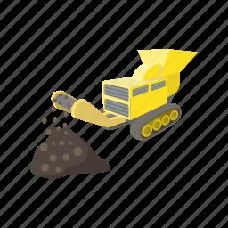 breaker, coal, cracker, crusher, disintegrator, grinder, mill icon
