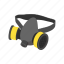 air, background, biological, cartoon, mask, respirator, toxic icon