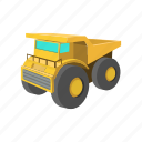 cartoon, digger, iron, machine, machinery, stormy, transport icon