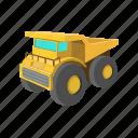 cartoon, digger, iron, machine, machinery, stormy, transport