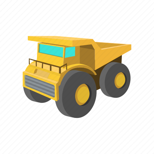 cartoon, digger, iron, machine, machinery, stormy, transport icon
