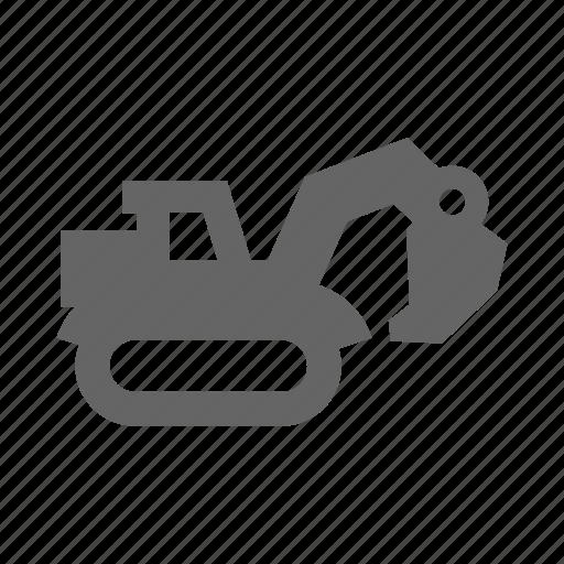 bulldozer, equipment, industrial, industry, machine, mine, miner, mining, tool, truck, work, worker icon