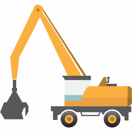 construction, earth mover, equipment, machinery, material, mining, mining vehicles icon