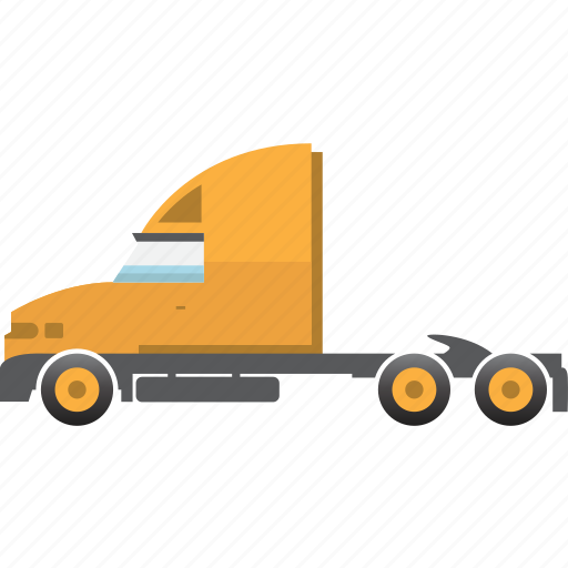 construction, equipment, mining, mining vehicles, semi-trailer, truck, trucker icon
