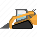 construction, earth mover, equipment, machinery, mining, mining vehicles, tractor icon