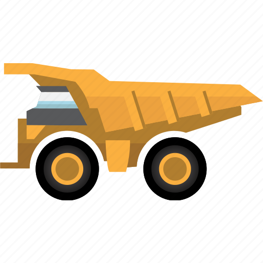 big truck, construction, earth mover, equipment, machinery, mining, mining vehicles icon